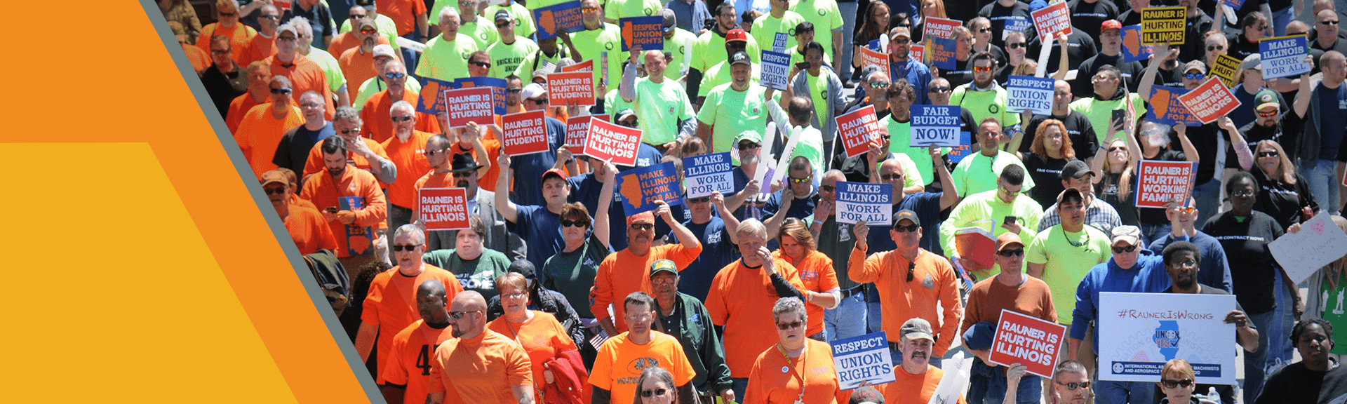 LiUNA Supporters Crowd Protest